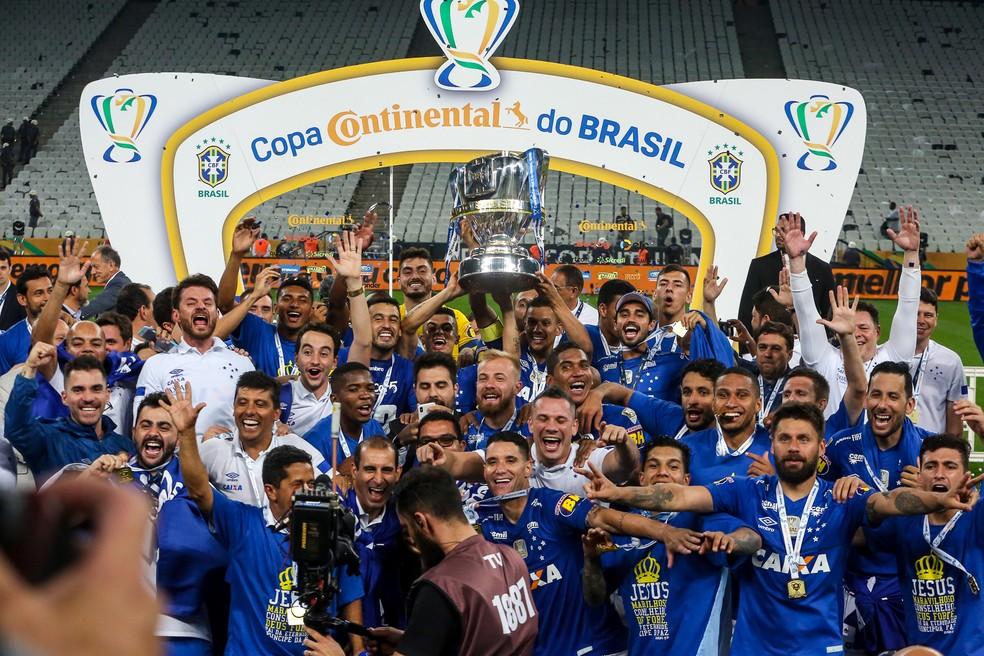 Cruzeiro foi campeão Copa do Brasil em 2018 (foto) e 2017 — Foto: Flávio Florido/BP Filmes