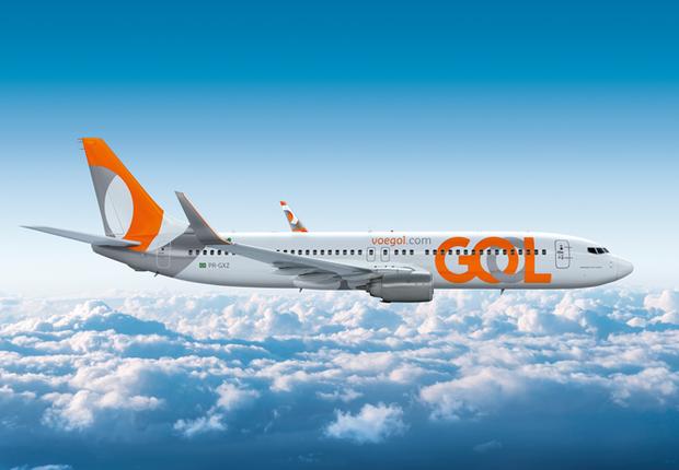 Aeronave com novo logotipo da Gol Linhas Aéreas (Foto: Divulgação)