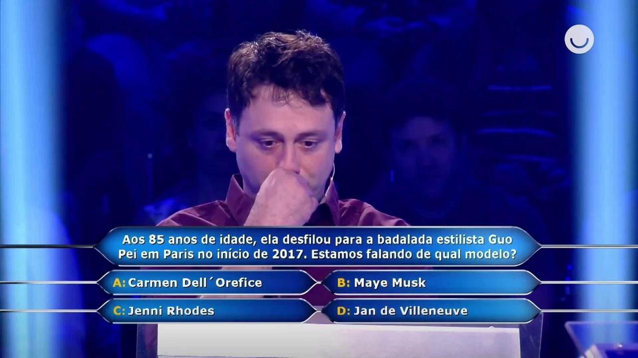 No 'Milionário', Daniel Minahim chuta pergunta de R$ 500 mil