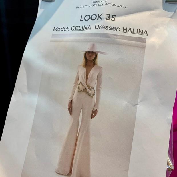 Look de Celina Locks para Ralph & Russo (Foto: Reprodução Instagram)