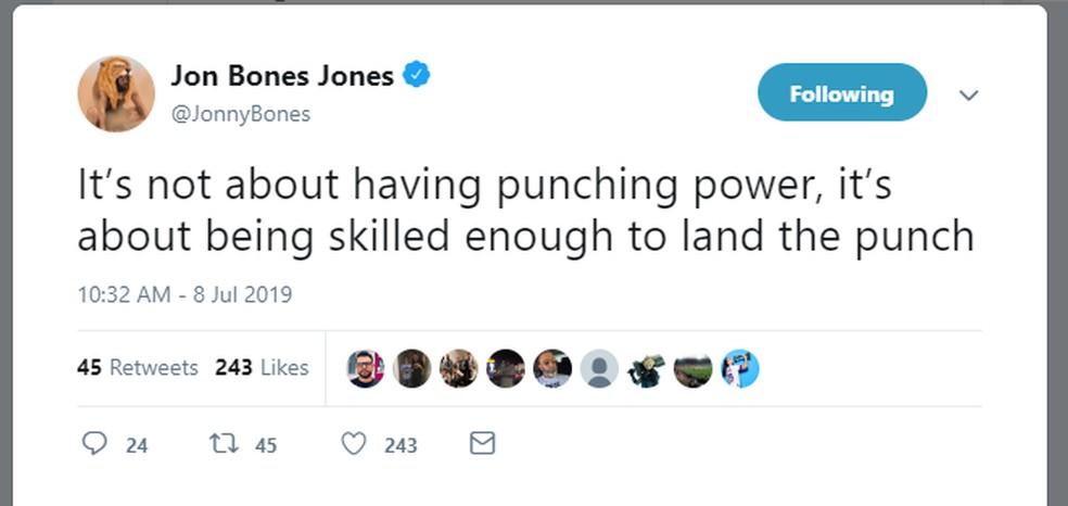 Jon Jones tweet Thiago Marreta — Foto: Reprodução/Twitter