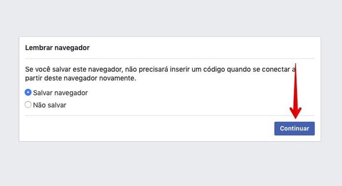 Salve o navegador para não precisar confirmar o login (Foto: Reprodução/Helito Bijora)