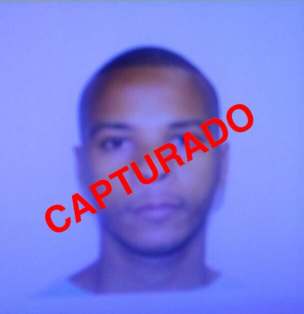 Segurança de Rogério 157 capturado (Foto: Reprodução/Polícia Militar)