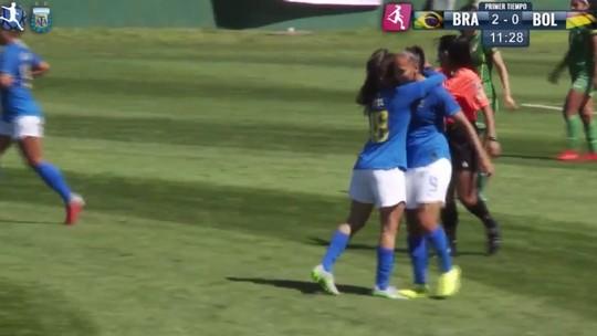 Piauiense Júlia Beatriz marca o primeiro gol com a camisa da seleção feminina sub-20