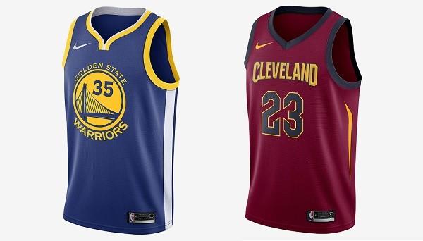Novas camisetas dos finalistas das últimas três edições da NBA