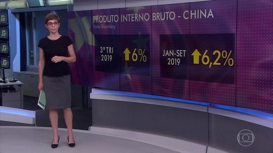 PIB da China desacelera mais que o esperado no 3º trimestre