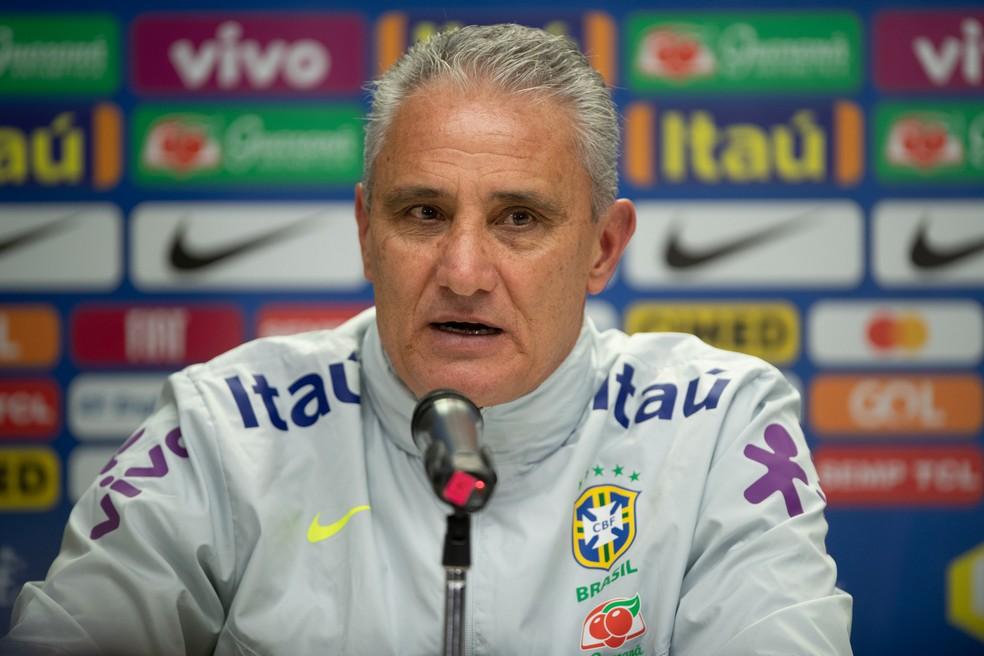 Tite divulgará convocação final para a Copa América em 17 de maio — Foto: Pedro Martins / MoWA Press