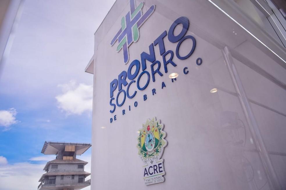 Pronto-Socorro de Rio Branco vai receber recurso do Ministério da Saúde para manutenção de leitos de UTI — Foto: Júnior Aguiar/Secom