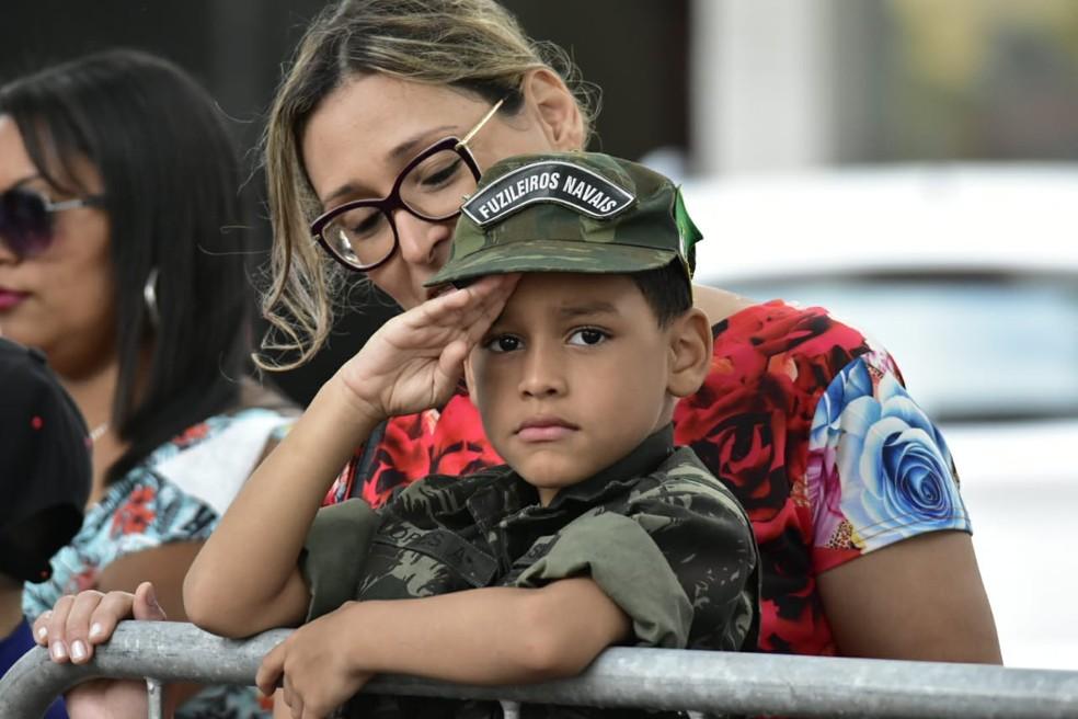 Desfile cívico-militar marca comemorações ao 7 de setembro em Natal (Foto: Vitorino Júnior)