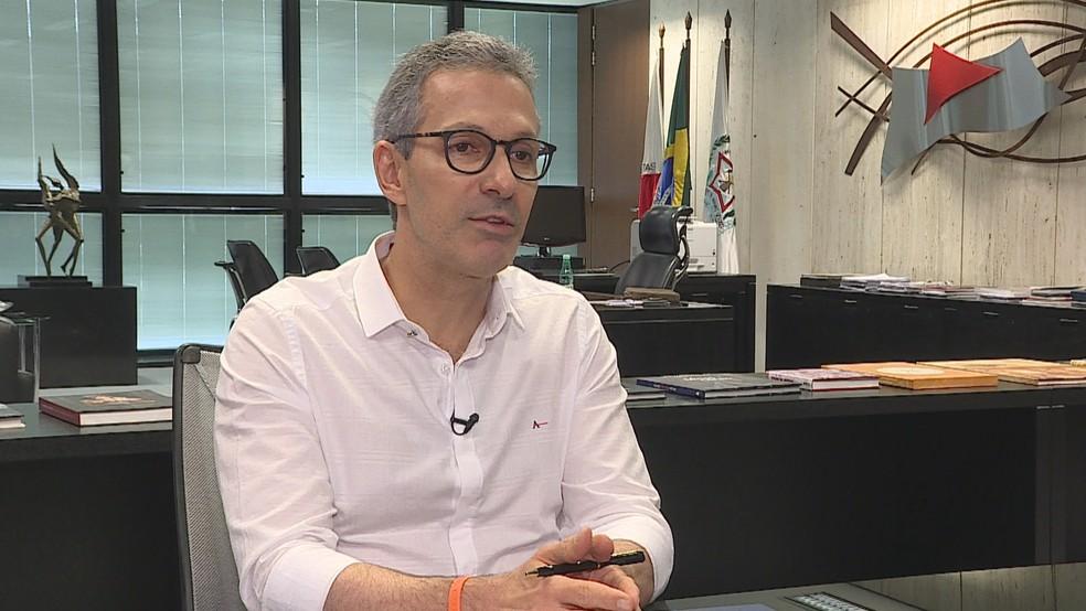 Governador de Minas Gerais Romeu Zema (Novo) tomou posse no dia 1º de janeiro deste ano — Foto: Reprodução/TV Globo
