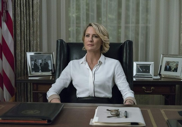 Claire Underwood, interpretada por Robin Wright, em House of Cards (Foto: Divulgação/Netflix)