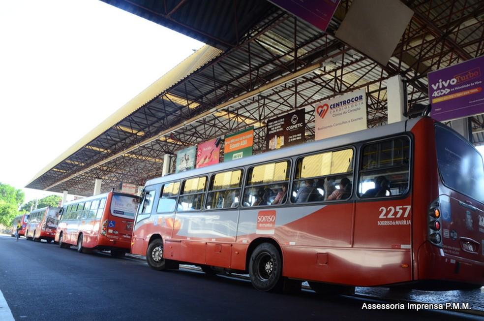 Terminal urbano de Marília tem câmeras interligadas a sistema de monitoramento da prefeitura (Foto: Mauro Abreu/Prefeitura de Marília)
