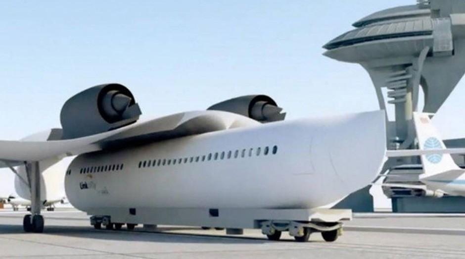Protótipo do trem voador da Akka Technologies (Foto: Divulgação/Akka)