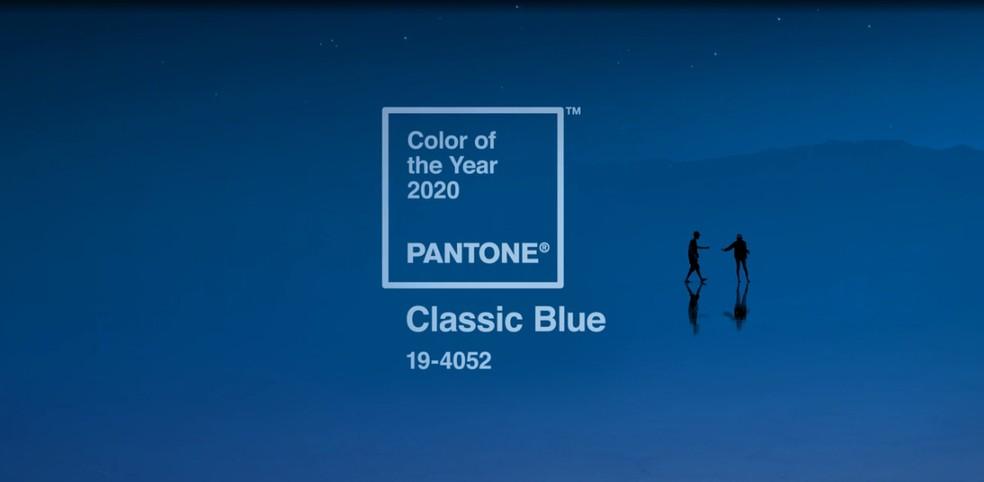 Pantone anuncia 'classic blue' como cor de 2020 — Foto: Divulgação