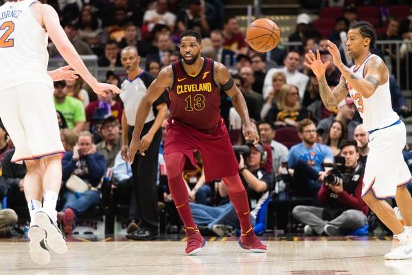 O jogador de basquete Tristan Thompson na partida do Cleveland Cavaliers contra o New York Knicks (Foto: Getty Images)