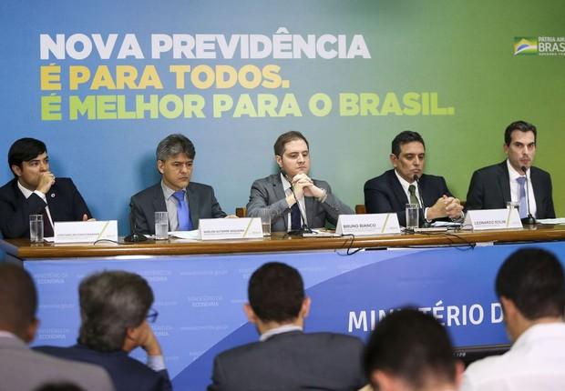 Apresentação da proposta de reforma da Previdência do governo federal (Foto:   Marcelo Camargo/Agência Brasil)