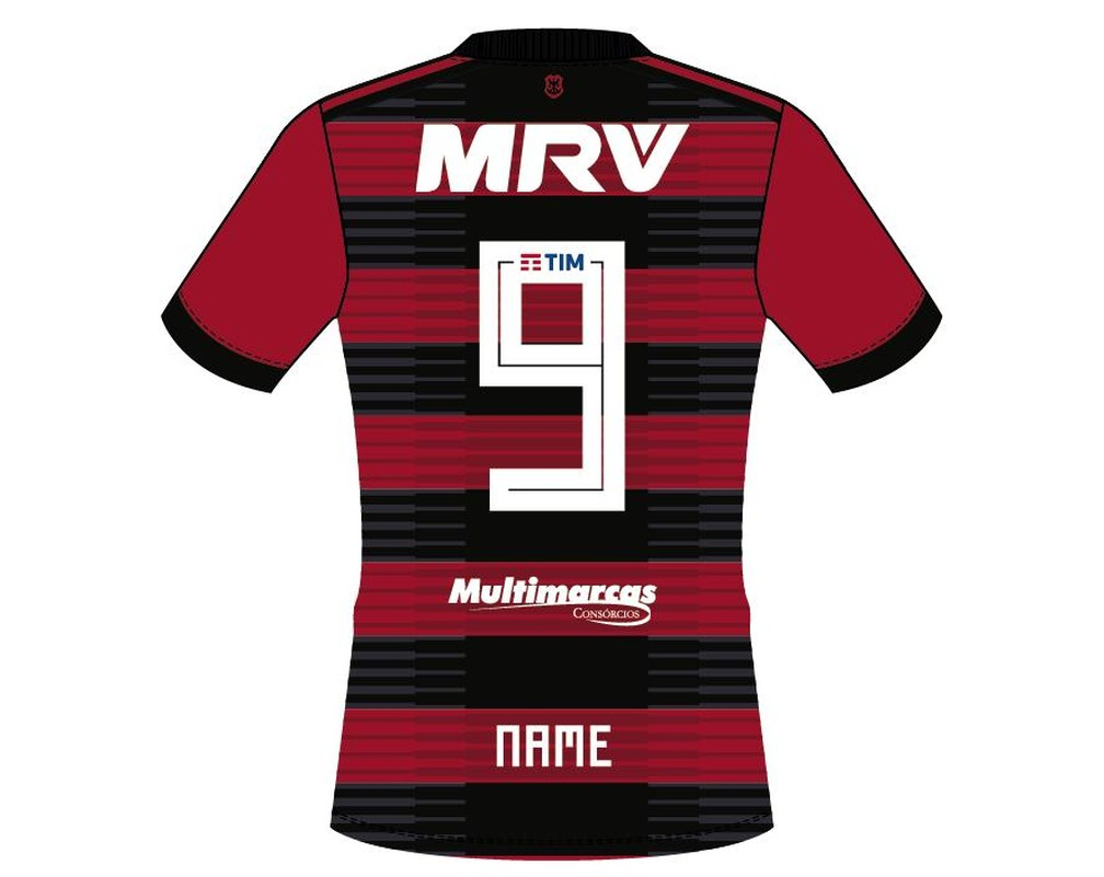 4a8eedb4bfcd6 ... Novo patrocínio ficará na barra traseira da camisa do Flamengo — Foto   Divulgação