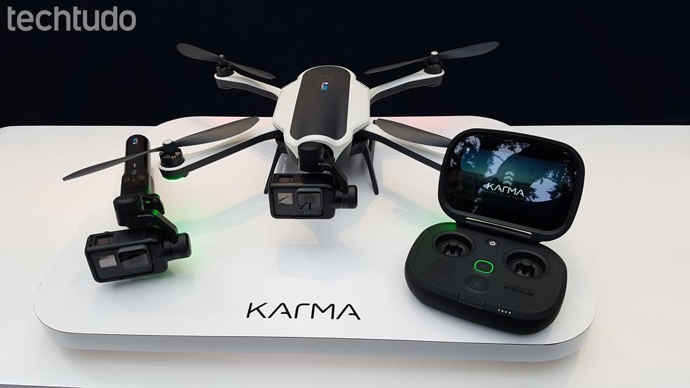 GoPro Karma recebeu melhorias; drone também é compatível com a Hero6 Black (Foto: Viviane Werneck/TechTudo)