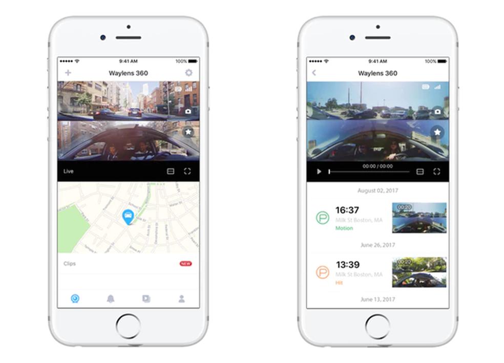 Aplicativo de controle da câmera garante acesso aos vídeos, localização e notificação de atividades (Foto: Divulgação/Waylens)