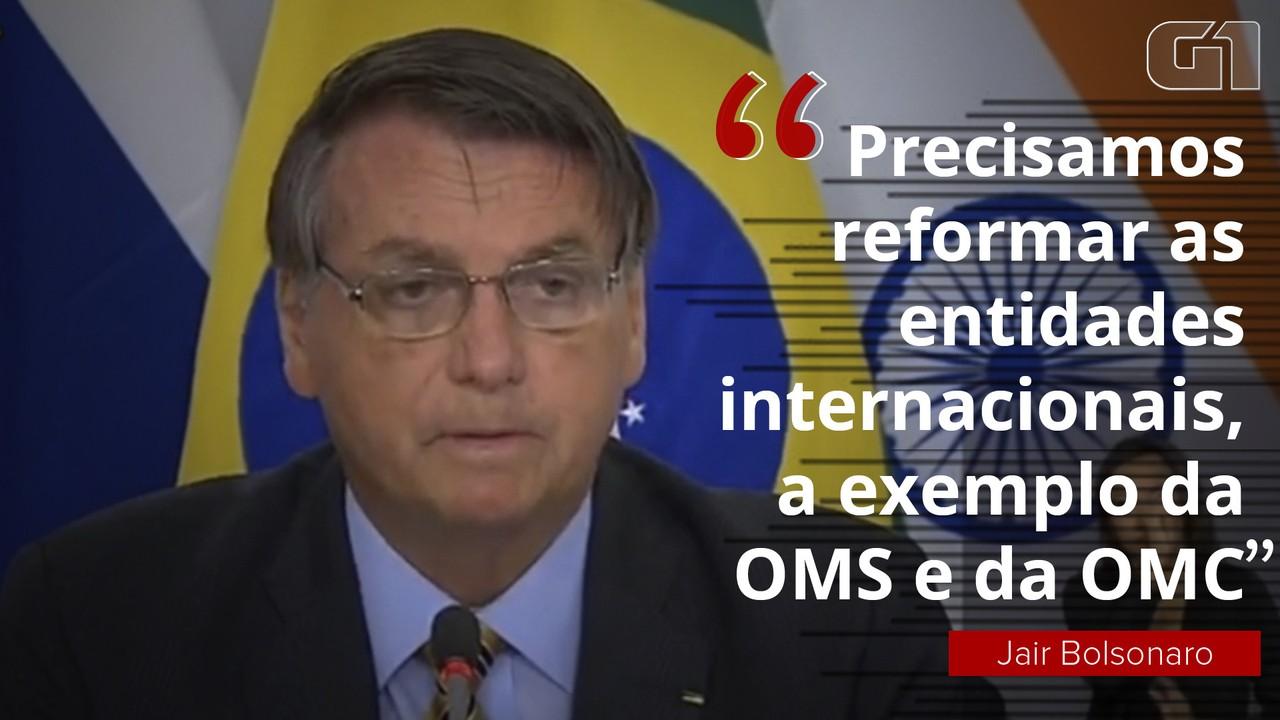 Bolsonaro aponta necessidade de reforma da OMS e da OMC