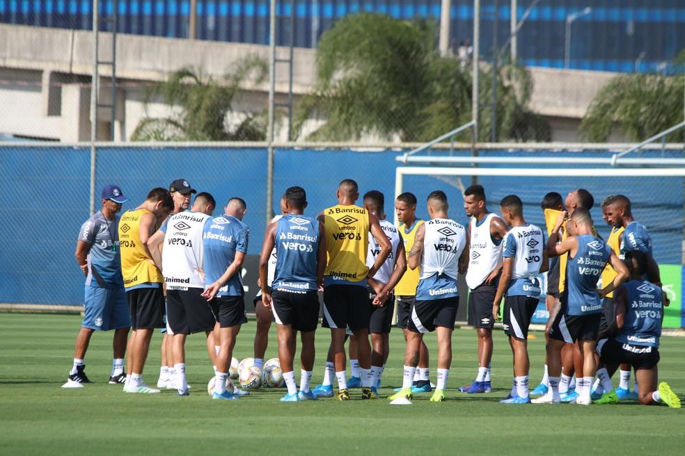 Grêmio suspendeu rotina de treinos no CT Luiz Carvalho — Foto: Eduardo Moura