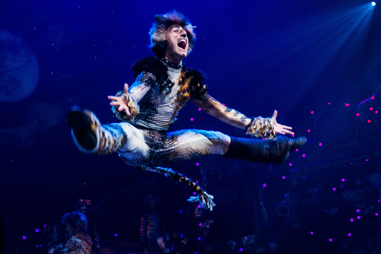 Uma foto feita durante uma apresentação do musical Cats, na Broadway (Foto: Getty Images)
