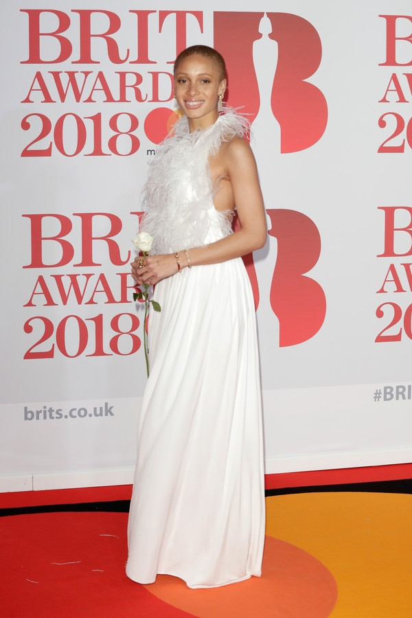 LONDON, ENGLAND - FEBRUARY 21:  *** EDITORIAL USE ONLY IN RELATION TO THE BRIT AWARDS 2018*** Adwoa Aboah attends The BRIT Awards 2018 held at The O2 Arena on February 21, 2018 in London, England.  (Photo by John Phillips/Getty Images) (Foto: Getty Images)