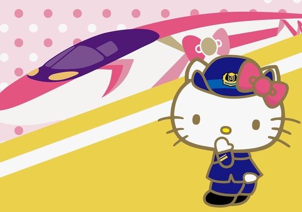 Japão terá um trem-bala da Hello Kitty (Foto: Divulgação)