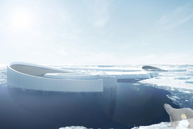 Designers criam icebergs modulares para deter mudanças climáticas (Foto: Divulgação)