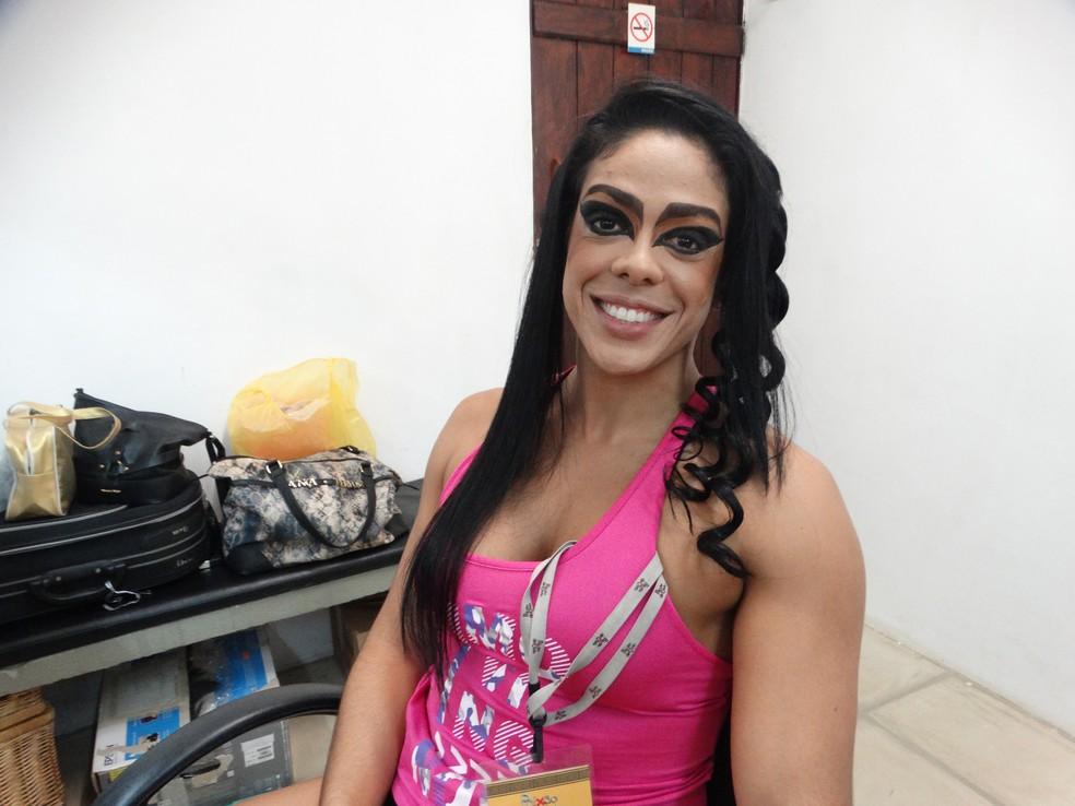 Rafaella Carvalho se preparando para entrar em cena no bacanal de Herodes (Foto: Joalline Nascimento/G1)
