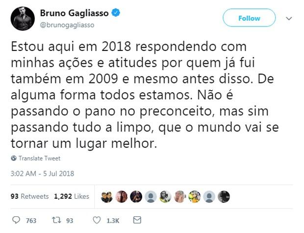 Bruno Gagliasso (Foto: Reprodução/Twitter)