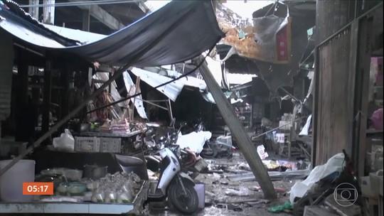 Explosão de bomba em mercado deixa mortos na Tailândia