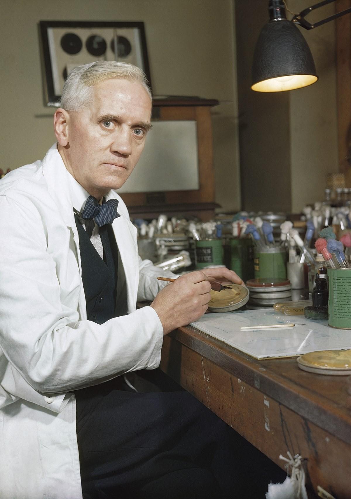 Alexander Fleming, o inventor da penicilina  (Foto: Wikimedia Commons)
