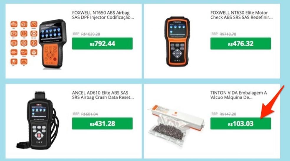 Ação para visitar a página de venda de um produto em estoque no Brasil pelo site Gearbest â?? Foto: Reprodução/Marvin Costa