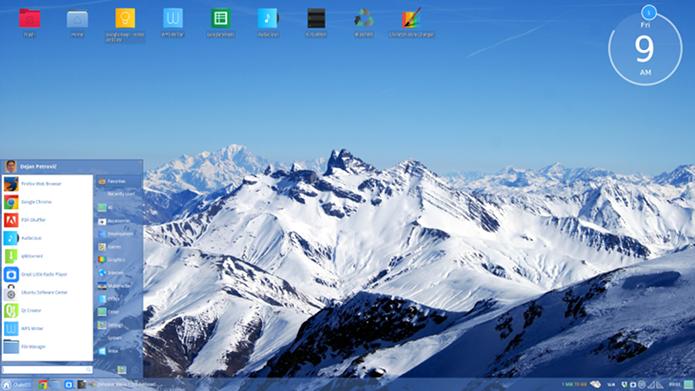 ChaletOS é uma distro com um visual muito parecido com o do Windows (Foto: Divulgação/ChaletOS)
