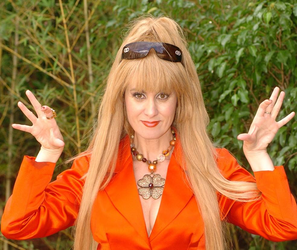 Márcia Cabrita como Caca, a versão humana da Cuca, em episódio do 'Sítio do picapau amarelo' exibido em 2007 (Foto: TV Globo / Márcio de Souza)