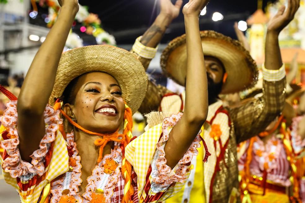 Desfile da Dragões da Real (Foto: Fábio Tito/G1)