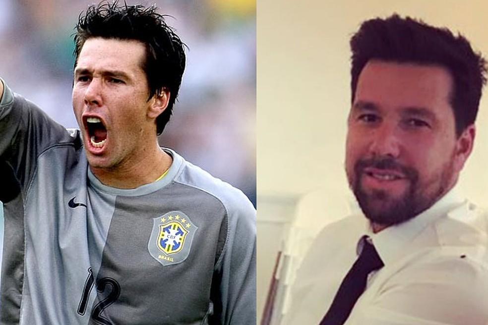 Doni na Copa América de 2007 e atualmente — Foto: Divulgação / CBF / Reprodução / Instagram