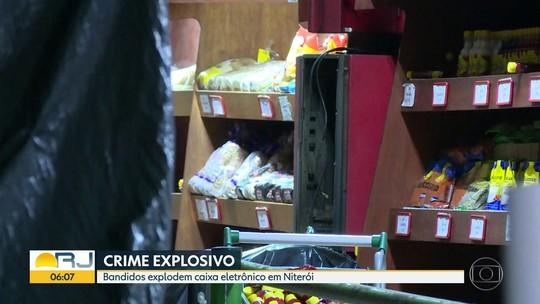 Criminosos explodem caixa eletrônico em Niterói