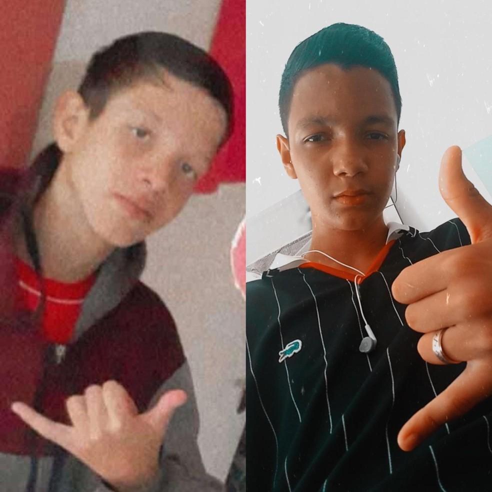 Irmãos Guilherme da Silva (esq.), de 12 anos, e Gabriel da Silva, de 15 anos, se afogaram na Praia de Maresias. — Foto: Arquivo Pessoal/Vanessa da Silva