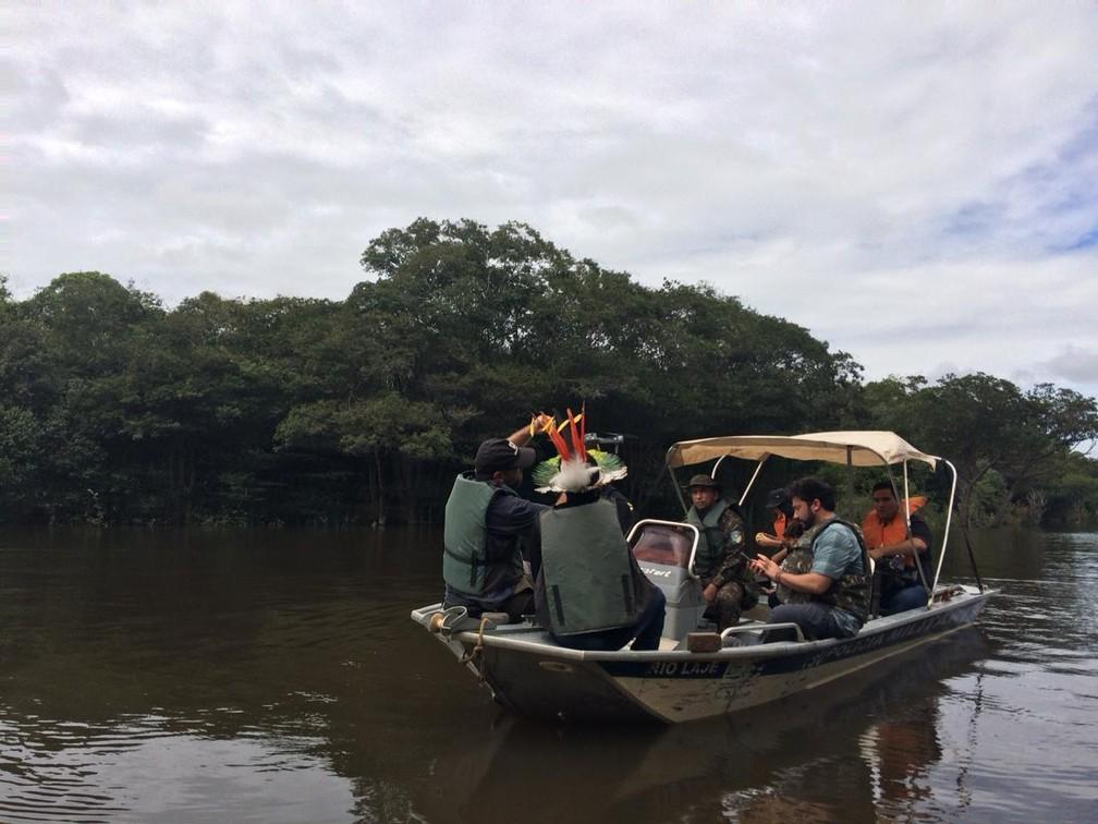 WWF ministrou curso para uso de drones a indígenas em Porto Velho.  — Foto: Ana Kézia Gomes/G1
