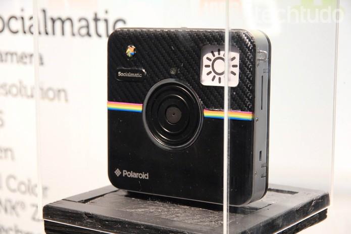 Socialmatic, ainda um protótipo, faz sucesso com a Polaroid na CES 2014 (Foto: Isadora Díaz/TechTudo)