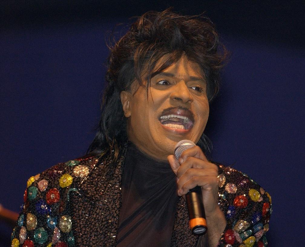 Little Richard durante apresentação em outubro de 2001 — Foto: Tim Parker/Reuters/Arquivo