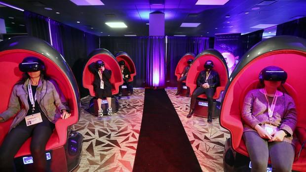 Cinema com realidade virtual, durante SXSW 2019, um dos maiores eventos de inovação e economia criativa do mundo (Foto: Getty Images )