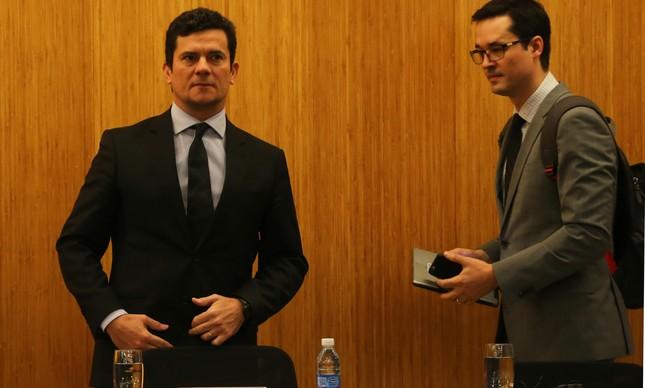 Sérgio Moro e  Deltan Dallagnol