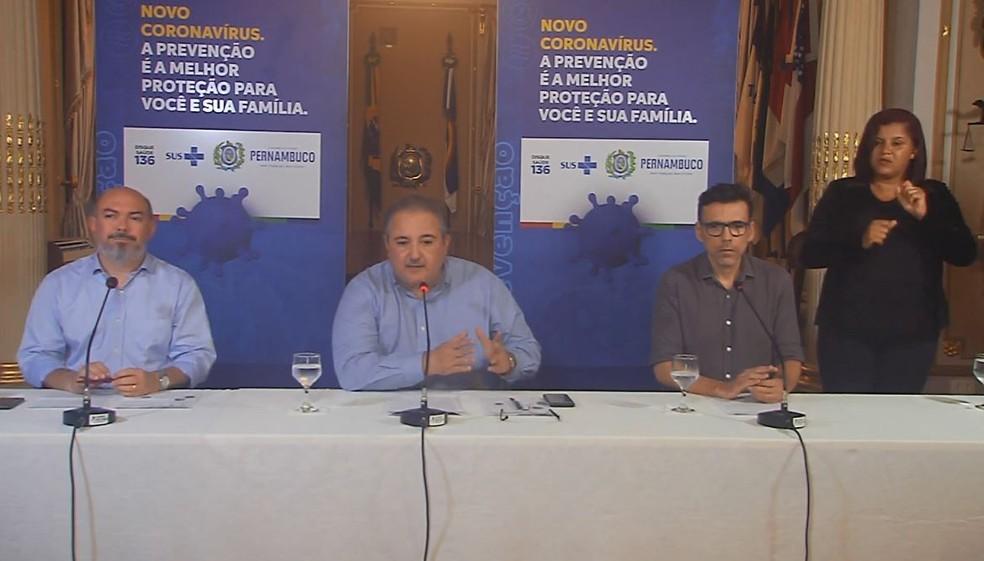 Pernambuco tem 48 casos confirmados de coronavírus — Foto: Reprodução/Governo de Pernambuco