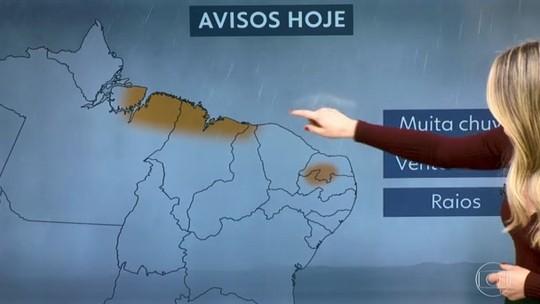 Previsão de chuva para quase todo o país e risco de temporal no Nordeste
