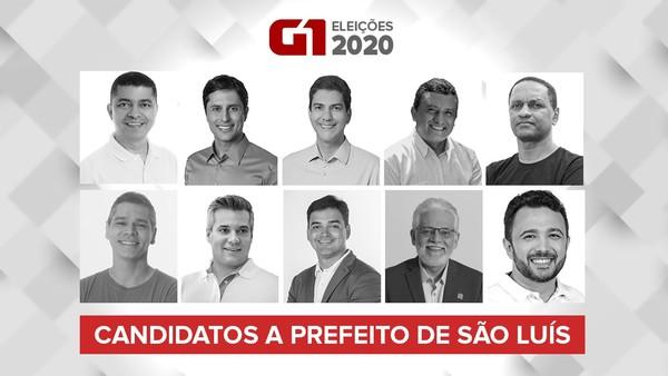 Candidatos a prefeito de São Luís nas eleições 2020. — Foto: Arte/G1.
