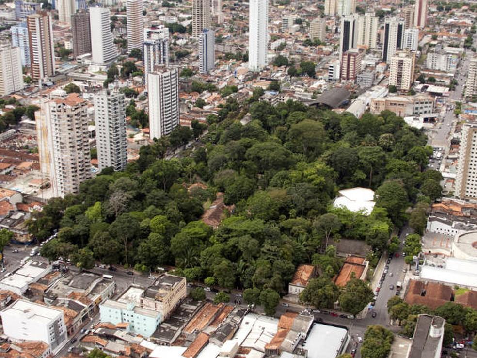 Parque Zoobotânico tem 5,2 hectares de floresta preservada no centro de Belém — Foto: Oswaldo Forte/Libcop