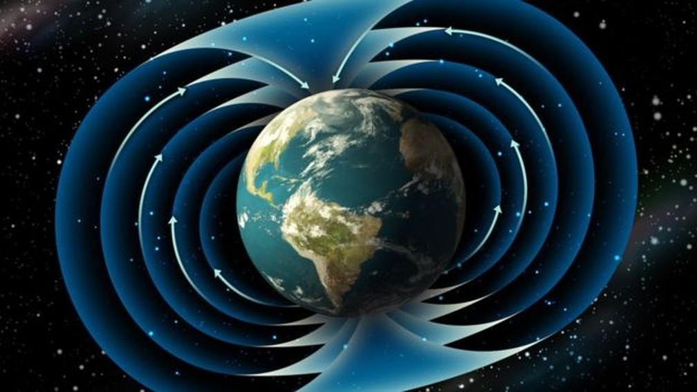 A Terra já inverteu seus polos magnéticos diversas vezes; a última inversão conhecida deu início à idade Chibano — Foto: Istock via BBC